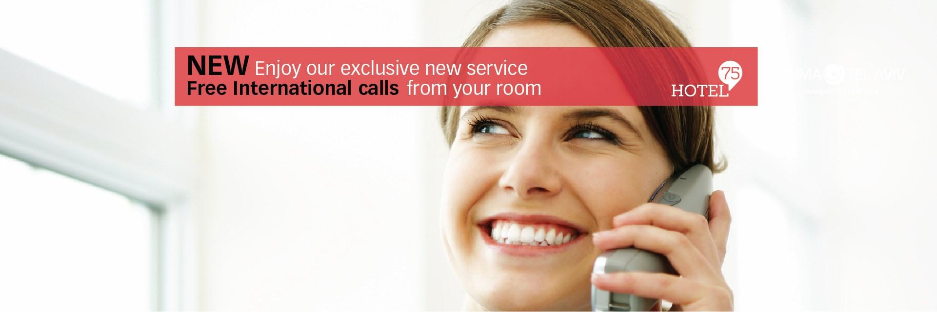 Free International Calls Hotel 75